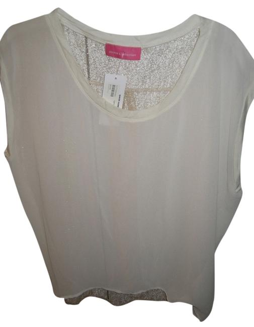 Pookie and Sebastian Sleeveless Top Ivory Gold