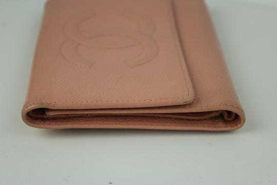 Chanel Caviar Leather Trifold Wallet Pink CCFLM6