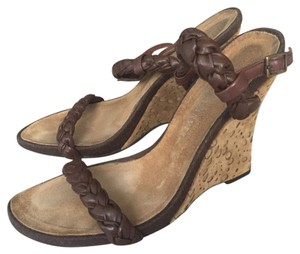Barneys Co-Op Coop Sanver Wedge Brown Wedges