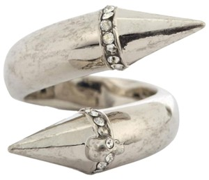 Alexander McQueen Alexander McQueen Silver Plated Twisted Spike Ring