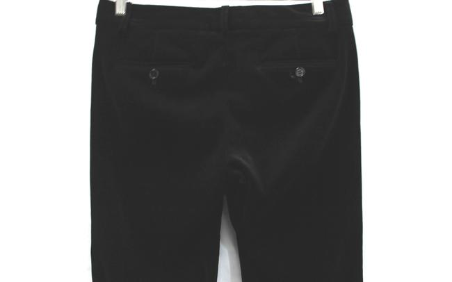 Theory Stretch Velvet Cotton Cut Straight Pants BLACK