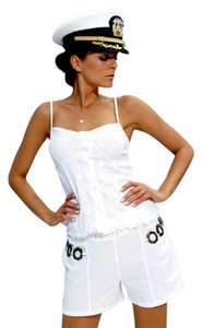Lirome Embroidered Casual Summer Sexy Top White