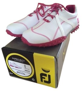 FootJoy White/Fuschia Golf Shoes Athletic
