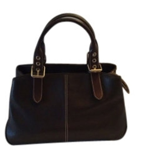 Preload https://item2.tradesy.com/images/dooney-and-bourke-double-handles-all-dark-brown-leather-satchel-38436-0-0.jpg?width=440&height=440