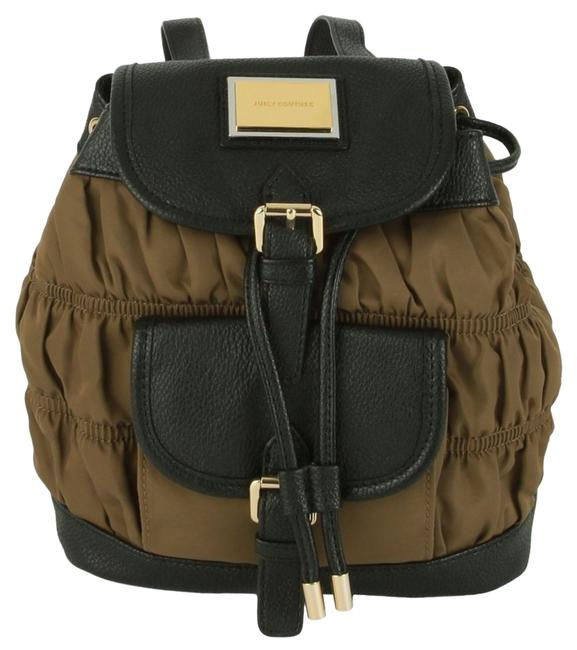 Item - Rouched Mini 119.99 Yhruo126 Brown Nylon/Leather Trim Backpack