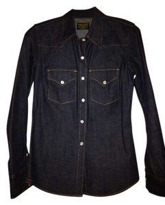 J.Crew Button Down Shirt Dark Rinse Denim