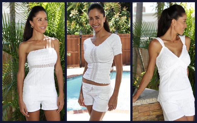 Lirome Sexy Casual Resort Vacation White Halter Top