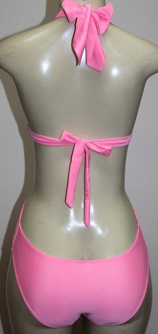 Other Antique Monokini 1pc Halter Sexy Swimsuit Pink Gold Accent