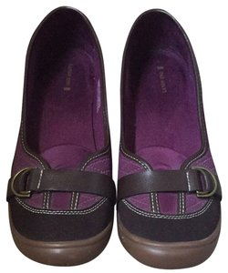 Lands' End Deep Purple And Brown Mules