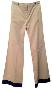 RED Valentino New Khaki Trousers Flare Pants Sand