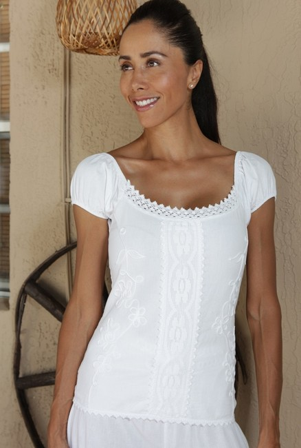 Lirome Casual Summer Cozy Vacation Top White