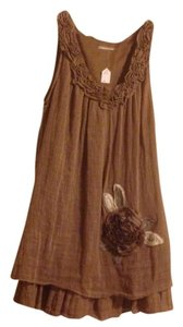 Blue Bird short dress brown, tan on Tradesy