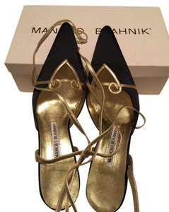 Manolo Blahnik Black Platforms
