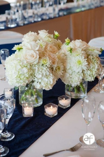 Navy Blue Table Runners Reception Decoration