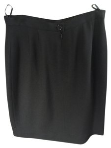 Karl Lagerfeld Neiman Marcus Chanel Pencil Skirt Black