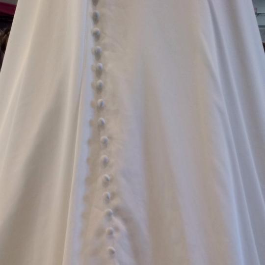 Allure Bridals Ivory Silk Wedding Dress Size 12 (L)