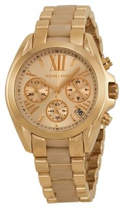 Michael Kors Michael Kors Mini Chronograph Rose Dial Rose Gold-tone Ladies Watch