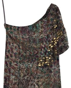 Nanette Lepore Top Purple, Green And Brown