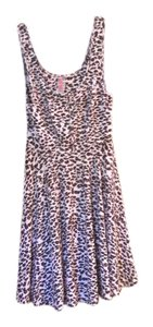 Free People short dress Pink with brown animal print on Tradesy