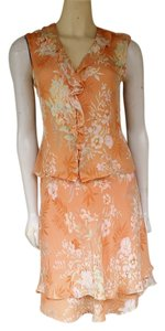Jones New York short dress Peach Foral Silk Outfit Set on Tradesy