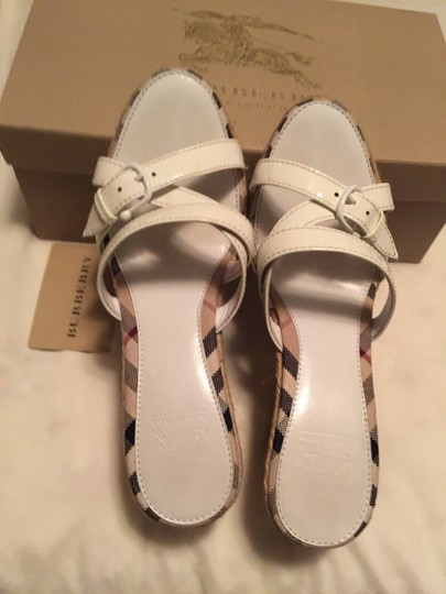 Burberry White with Burberry classic strips Platforms