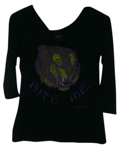 Betsey Johnson T Shirt black and purple