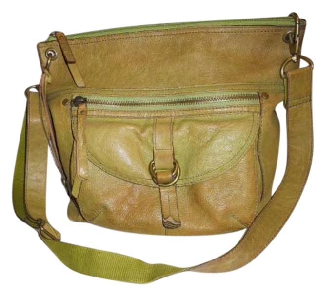 Item - Distressed Green Leather Cross Body Bag