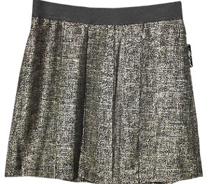Lord & Taylor & Pleated Skirt GOLD/BLACK