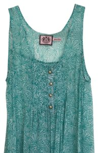 Juicy Couture Top Turquoise And White