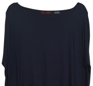 Alice + Olivia Cotton Casual T Shirt Navy Blue
