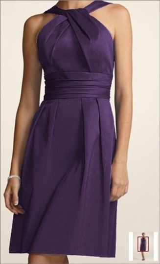 David's Bridal Lapis Cotton 83690 Formal Bridesmaid/Mob Dress Size 6 (S)