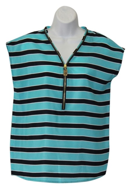 Michael Kors Top STRIPES/light blue/black/white.