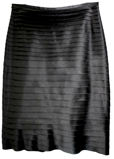 Other Satin Tiered Pencil Skirt BLACK