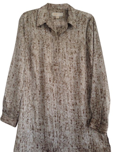 Item - Beige/ Brown Snakeskin Looking Print Tunic Size 12 (L)