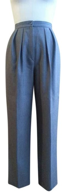 Emanuel Ungaro Tailored Business Attire Pleated Trouser Pants Grey