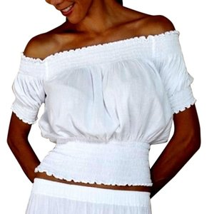 Lirome Crop Organic Top White