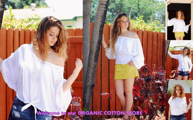 Lirome Organic Boho Lace Top White