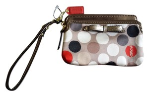 Coach Wristlet in Bronze and various neutrals