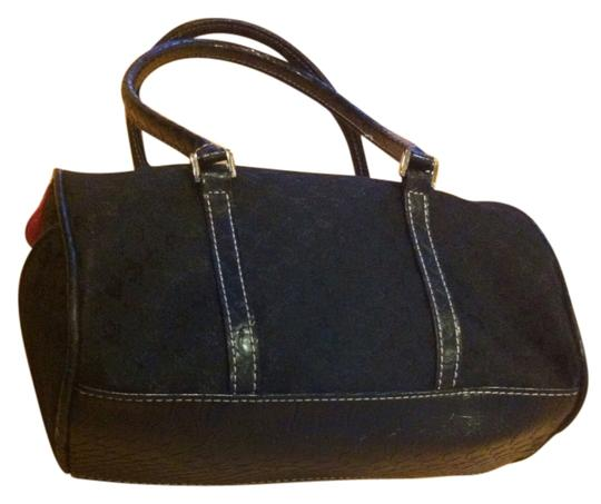 Preload https://item4.tradesy.com/images/liz-claiborne-cute-accents-in-real-suede-black-with-pink-satchel-384848-0-0.jpg?width=440&height=440