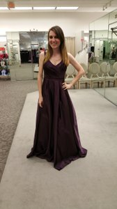 David's Bridal Plum David's Bridal - Satin Long Tank Ball Gown Dress Dress