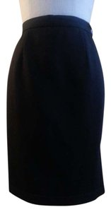 Valentino A-line Lining Skirt Black