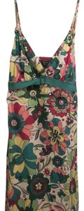 BCBGMAXAZRIA short dress White Green Yellow Pink Burnt Red Bcbg Bcbgmax Max Azria Floral on Tradesy