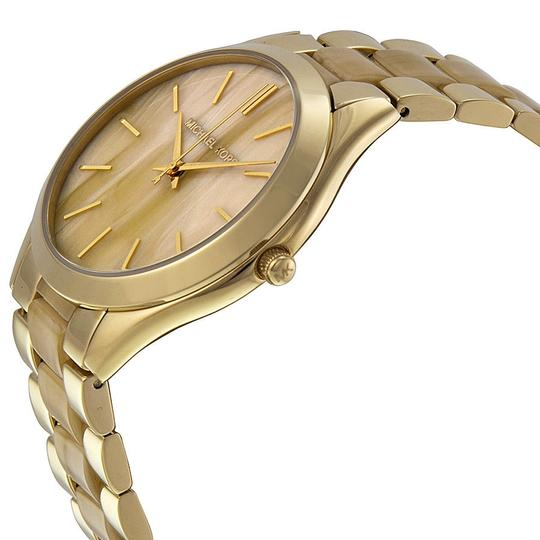 Michael Kors Michael Kors Champagne Dial Gold-tone and Milky Horn Ladies Watch