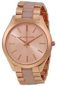 Michael Kors Michael Kors Rose Dial Rose Gold-tone Blush Acetate Ladies Watch