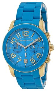 Michael Kors Michael Kors Turquoise Dial Turquoise Silicone Ladies Watch