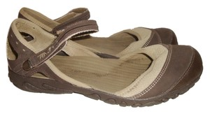 Teva Ankle Strap Walking Mary Jane Beige and Brown Sandals