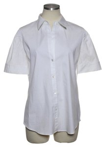 Theory Stretch Cotton Button Down Shirt White