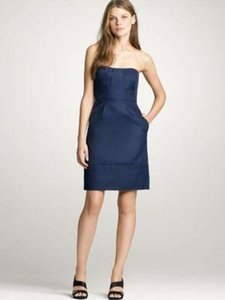 J.Crew Navy Blue Cotton Cady Erica Dress