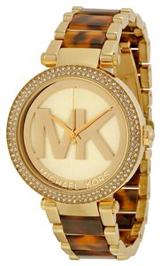 Michael Kors Michael Kors Dial Gold-tone and Tortoise-shell Acetate Ladies Watch