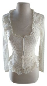 Grass Collection Sexy Lace Corset Top ivory